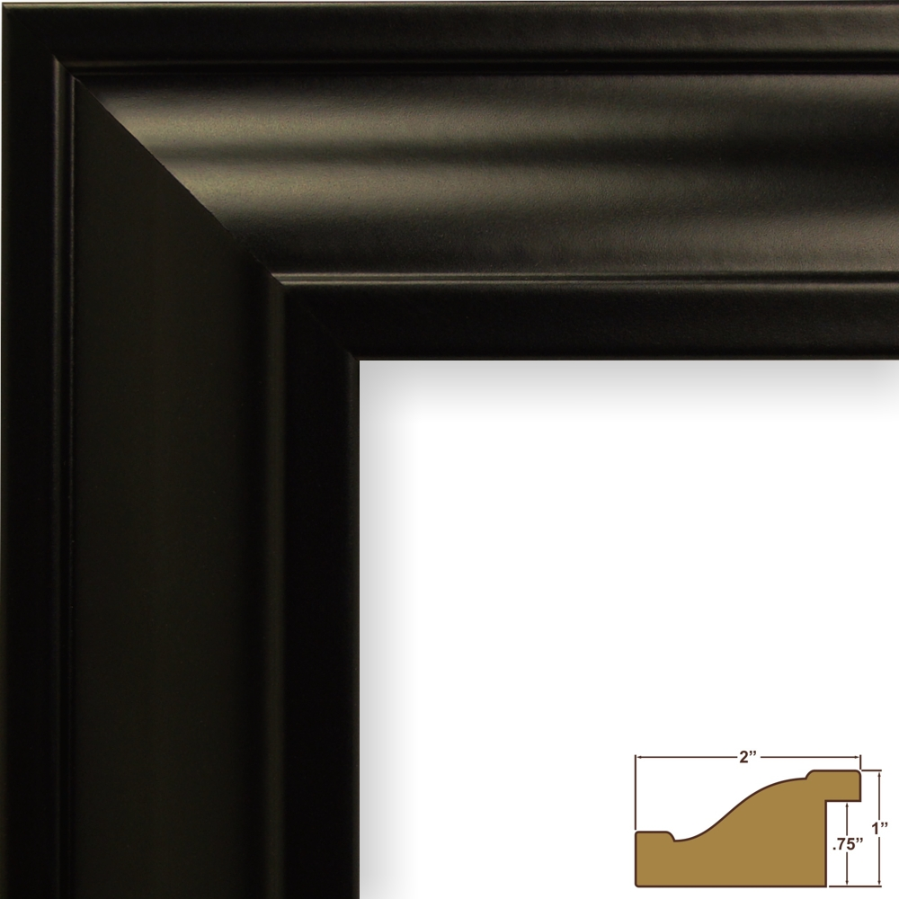 Craig frames 2 wide modern black wall decor picture frames 21834700bk jeuxipadfo Choice Image