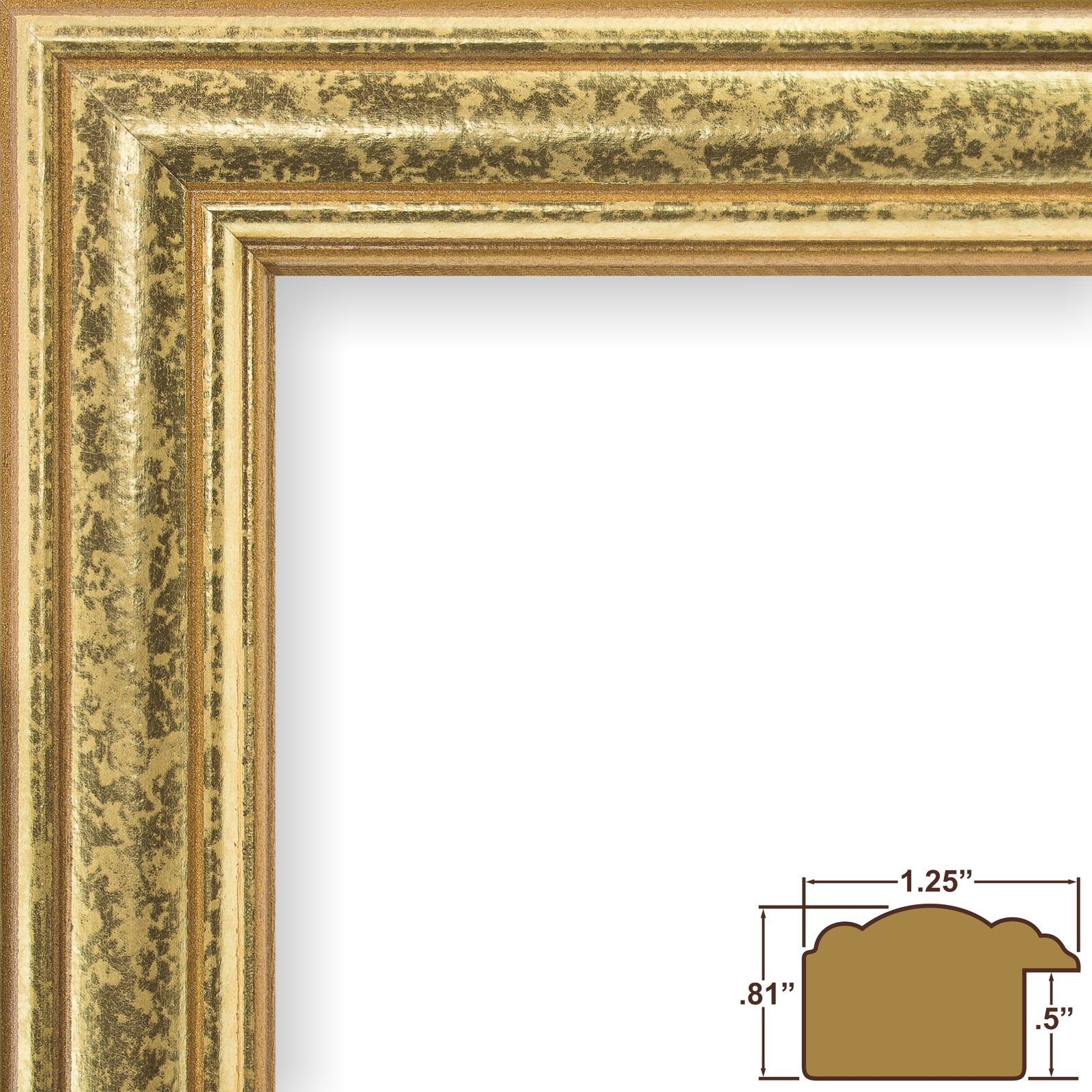Craig frames goldstone vintage gold hardwood picture frame ebay 59945000 frame height jeuxipadfo Image collections