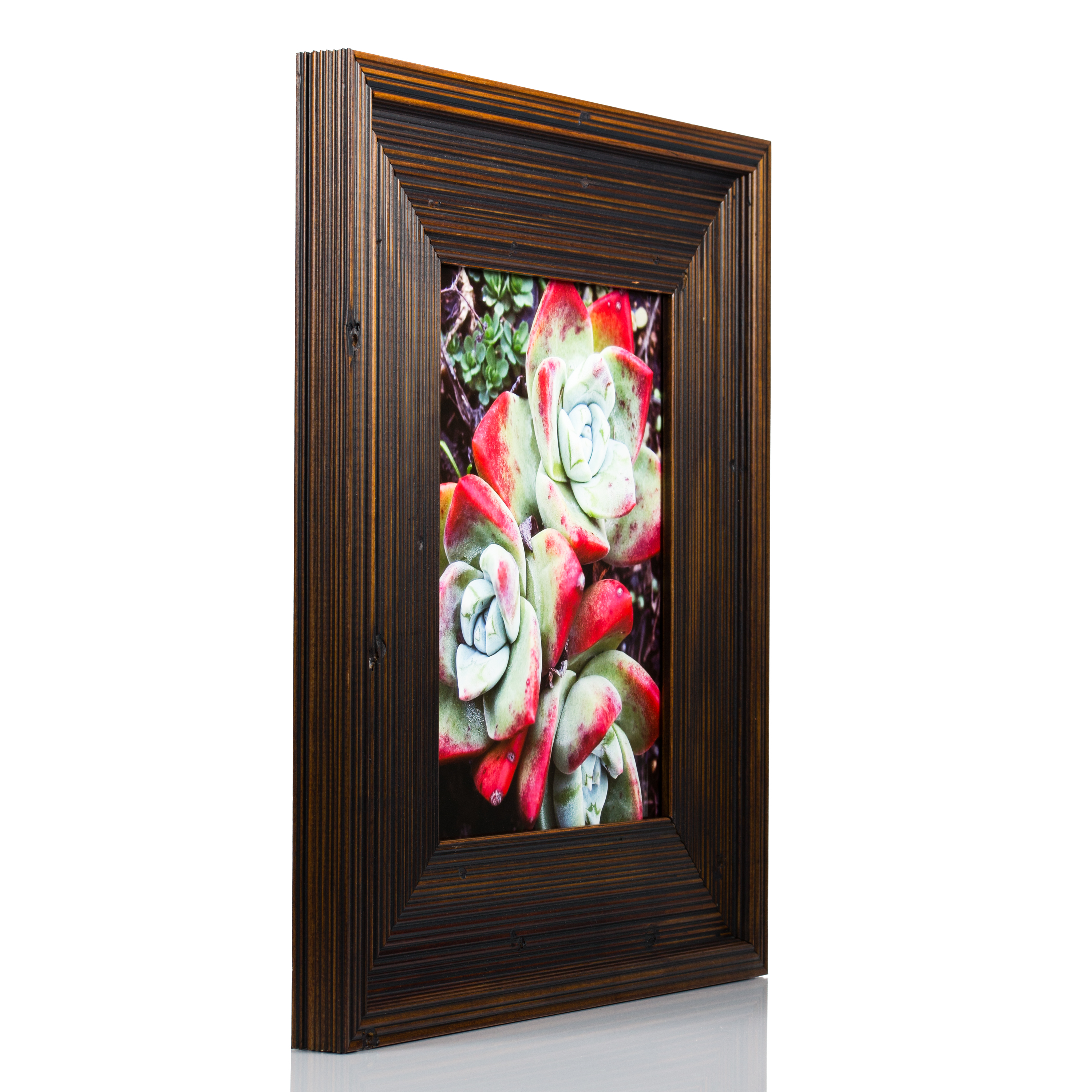 Craig frames rustic barnwood 3 dark brown solid wood picture 76602475 frame height jeuxipadfo Image collections